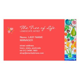 Árbol de la tarjeta de visita de vida