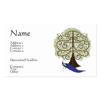 Árbol de la tarjeta de visita de vida de la tarjet