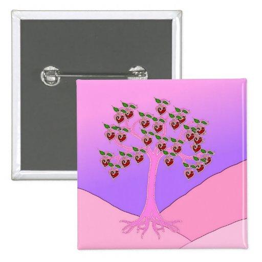 Árbol de la tarjeta del día de San Valentín Pins
