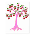 Árbol de la tarjeta del día de San Valentín Postales