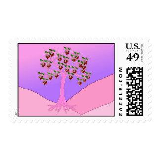 Árbol de la tarjeta del día de San Valentín Sellos