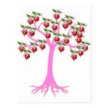 Árbol de la tarjeta del día de San Valentín Tarjetas Postales