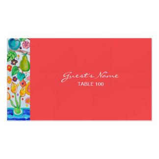 Árbol de la tarjeta del lugar del boda de la vida tarjetas de visita