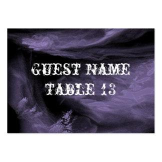 Árbol de la tarjeta gótica del número de la tabla  tarjetas de visita grandes