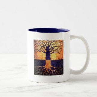 Árbol de la taza del tono de la vida dos