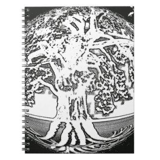 Árbol de la tierra de la vida libro de apuntes
