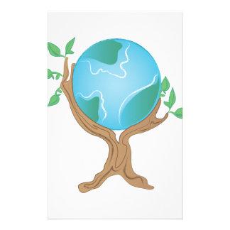 Árbol de la tierra personalized stationery