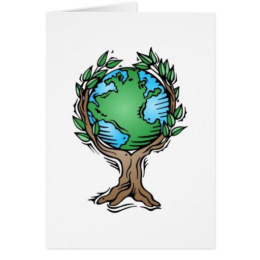 árbol de la tierra tarjetón