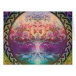 Árbol de la tranquilidad de la vida en colores del tarjeton