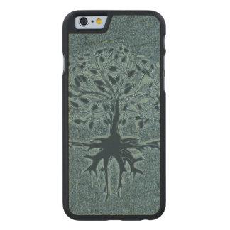 Árbol de la turquesa de la vida funda de iPhone 6 carved® slim de arce