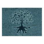 Árbol de la turquesa de la vida tarjetas de visita