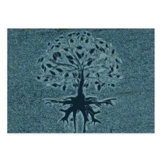 Árbol de la turquesa de la vida tarjetas de visita grandes