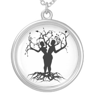 Árbol de la unidad de la vida colgante redondo