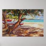 Árbol de la uva del mar posters