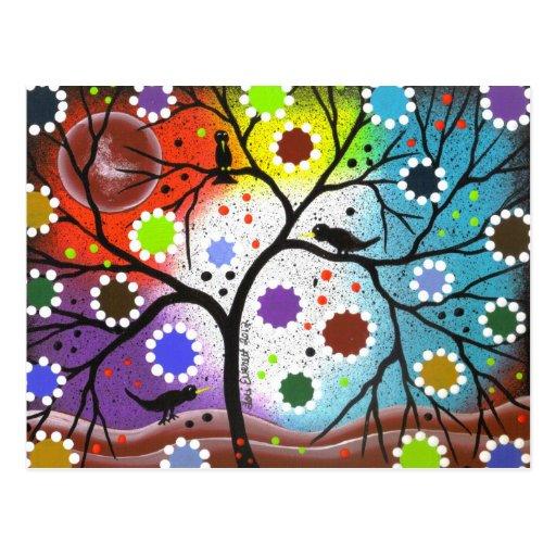 árbol de la vida #22 por Lorri Everett Postal
