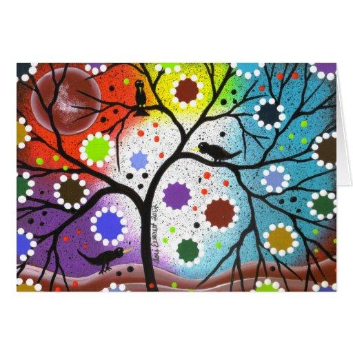árbol de la vida #22 por Lorri Everett Tarjeta De Felicitación