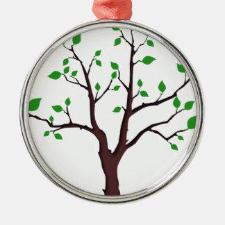 Árbol de la vida adorno navideño redondo de metal