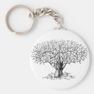 Árbol de la vida - animales llavero redondo tipo pin