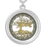 Árbol de la vida antiguo collares personalizados