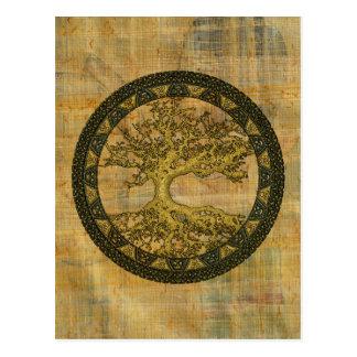 Árbol de la vida antiguo tarjetas postales