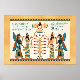 Árbol de la vida asirio póster