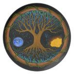 Árbol de la vida astral platos para fiestas