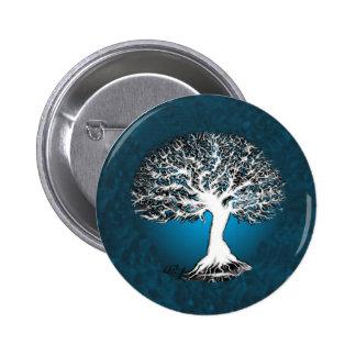 Árbol de la vida azul pin redondo 5 cm