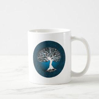 Árbol de la vida azul tazas de café