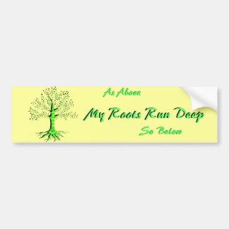 Árbol de la vida etiqueta de parachoque