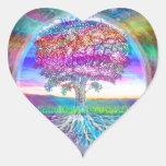 Árbol de la vida calcomanías corazones
