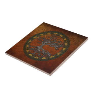 Árbol de la vida céltico teja  ceramica