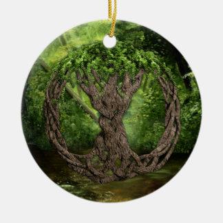 Árbol de la vida céltico ornamento de navidad