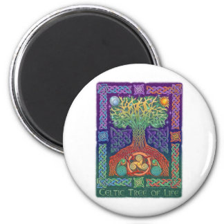 Árbol de la vida céltico imán redondo 5 cm