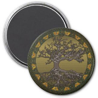 Árbol de la vida céltico imán redondo 7 cm