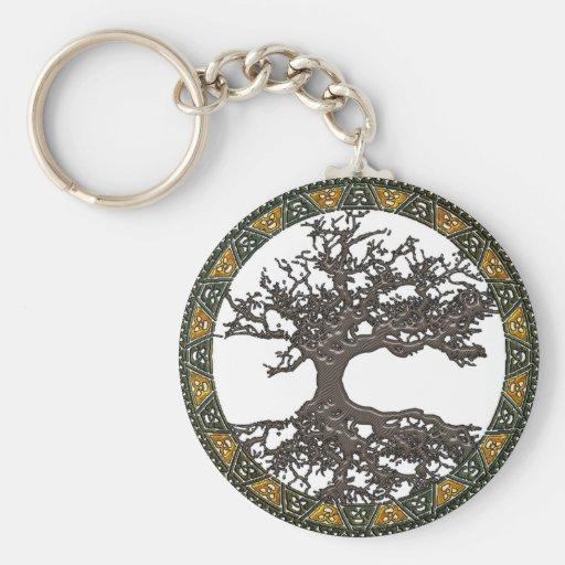 Árbol de la vida céltico llavero redondo tipo pin