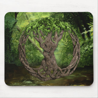 Árbol de la vida céltico mouse pad