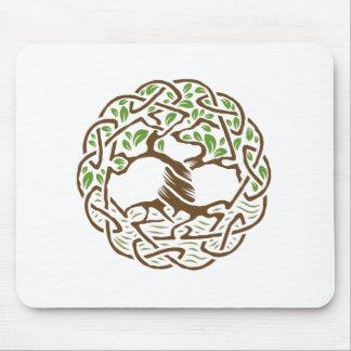 Árbol de la vida céltico mousepads