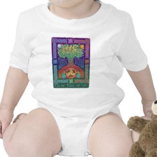 Árbol de la vida céltico trajes de bebé