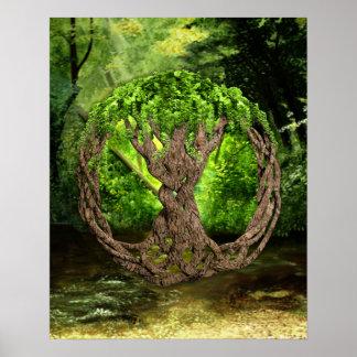Árbol de la vida céltico póster