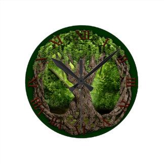 Árbol de la vida céltico reloj redondo mediano
