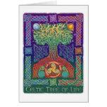 Árbol de la vida céltico tarjeta de felicitación