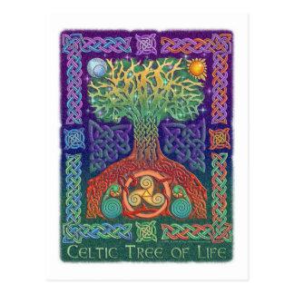 Árbol de la vida céltico tarjetas postales