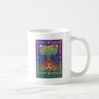 Árbol de la vida céltico taza de café