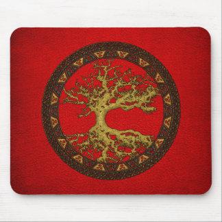Árbol de la vida céltico [Yggdrasil] [antiguo] Alfombrilla De Ratón