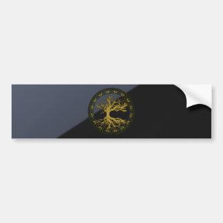 Árbol de la vida céltico [Yggdrasil] [antiguo] Pegatina De Parachoque