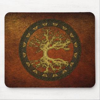 Árbol de la vida céltico [Yggdrasil] [antiguo] Mousepads