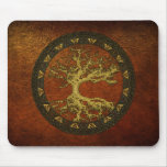 Árbol de la vida céltico [Yggdrasil] [antiguo] Tapetes De Raton