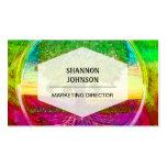 Árbol de la vida coloreado arco iris tarjeta de visita