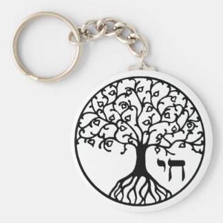 Árbol de la vida con CHAI Llavero Redondo Tipo Pin