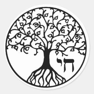 Árbol de la vida con CHAI Pegatina Redonda